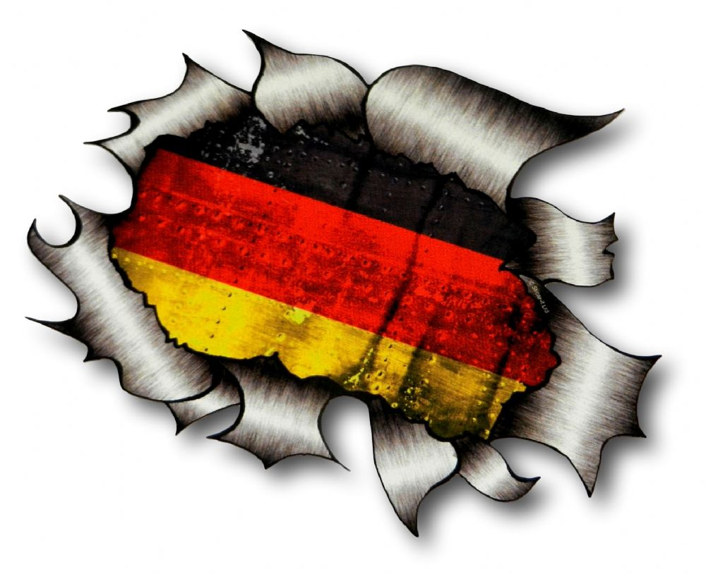 Ripped Torn Metal Design With Germany German Flag Gmotif